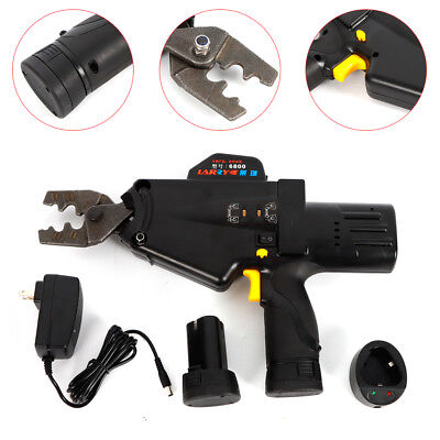 Handheld Electric Wire Terminal Crimper Plier Crimping Tool Rechargeable 110v