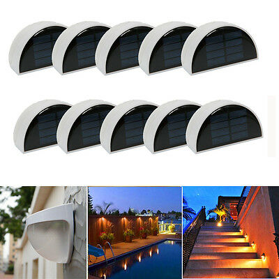 Lot10 6-LED Solar Power Light Sensor Wall Light Outdoor Garden Yard Fence Lamp