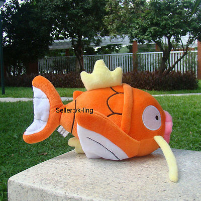 "Nintendo Pokemon Center Go Plush Toy Magikarp Fish 9"" Fluffy Stuffed Animal Doll"