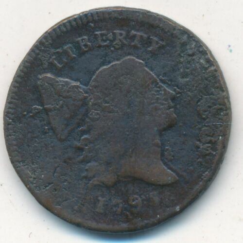 1795 LIBERTY CAP HALF CENT-WITH POLE LETTERED EDGE-SCARCE TYPE COIN! SHIPS FREE!