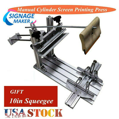 Manual Cylinder Screen Printing Machine10 Squeegee For Pen Cup Mug Bottle