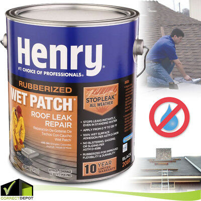 HENRY RUBBER WET PATCH Roof Cement Roofing Leak Repair Sealant Coating Sealer (Roof Leaks)