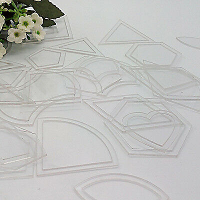 54pc Ruler DIY Tool fit Patchwork Craft Useful Acrylic Quilt Quilting Template