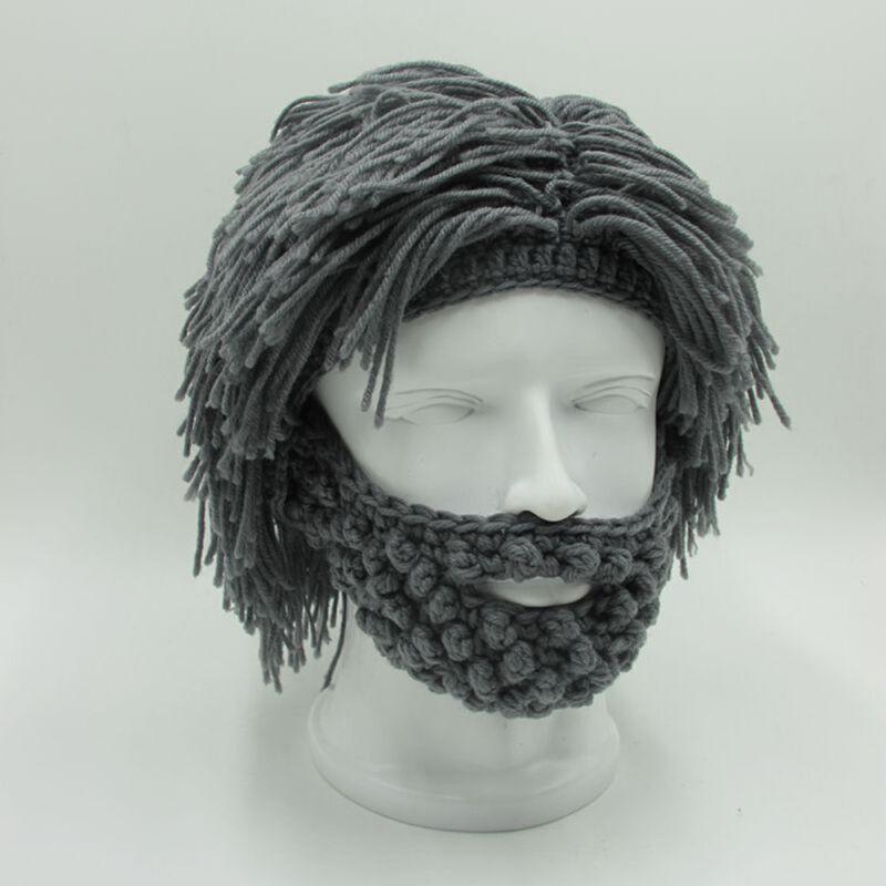New Mens Mad Caveman Winter Wool Knit Warm Hat Beanies Boy F