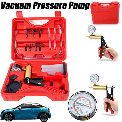 Hand-held Brake Fluid Bleeder Vacuum Pump Kit Test Tuner Tools Adapter For Car