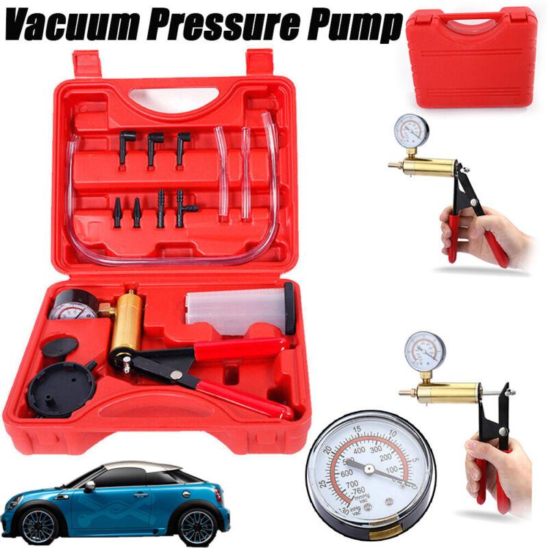Car Hand-Held Brake Fluid Bleeder & Vacuum Pump Test Tuner Kit Automotive Tools