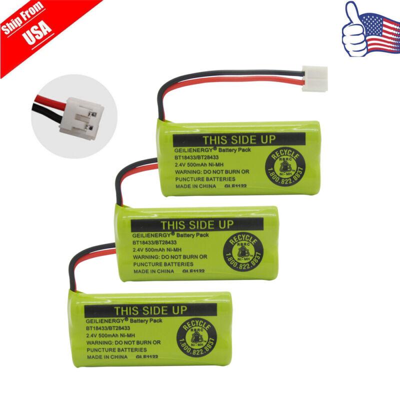 3x Home Phone Battery for AT&T/Lucent BT18433 BT28433 Uniden BT-1011 BT-101 USA