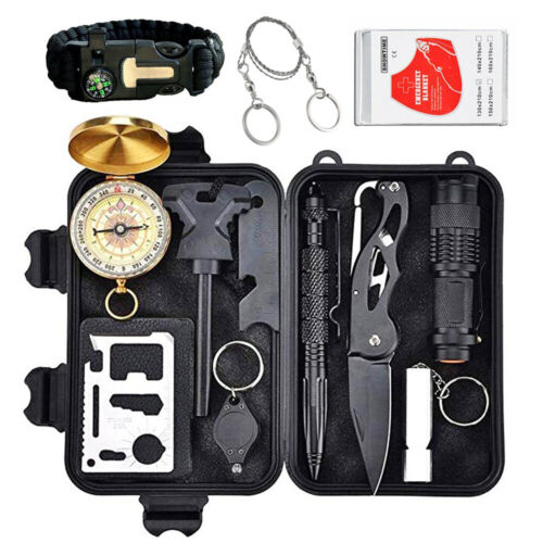 12 in 1 Outdoor Survival Kit First Aid Set Tactical SOS EDC Emergency Kit Tools