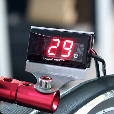 Led Digital Universal Motorcycle Thermometer Water Thermometer Gauge With Sensor