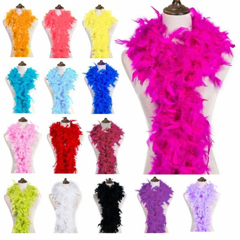 2M Feather Boa Strip Fluffy Craft Costume Dressup Wedding Party Flower Decor