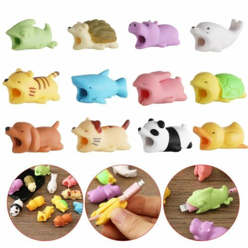 6Pcs Cable Protector For Iphone Cable Cord Cute Animal Bite