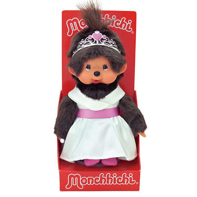 Monchhichi Weiße Prinzessin 20 cm Sekiguchi Mohair Plüsch