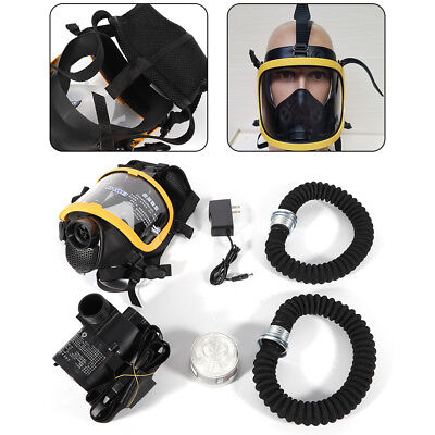 Multifuction Electric Supply Air Fed Full Face Gas Mask Constant Flow Respirator