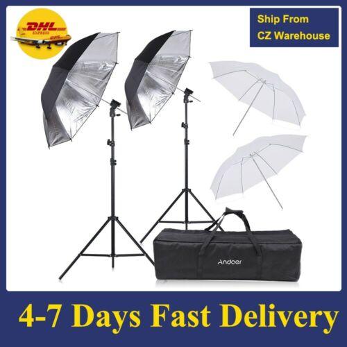 Flash Speedlight Umbrella Kit 2 * 2m Light Stand +2 * 83cm studio set