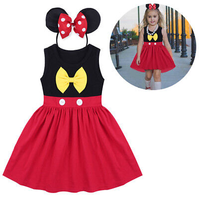 Toddler Baby Kid Girl Minnie Mickey Mouse Cosplay Fancy Dress Costume Birthday - Mickey Mouse Tutu Costume