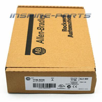 New Factory Sealed Allen Bradley 1746-no8i A Slc 500 Analog Output Module Plc
