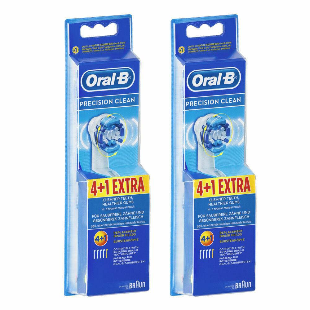 10 Stück Oral-B Precision Clean Aufsteckbürsten Ersatzzahnbürste Ersatzbürste