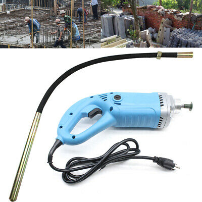 Electric Hand Held Concrete Vibrator 1300w Construction Tool Air Bubble Remover