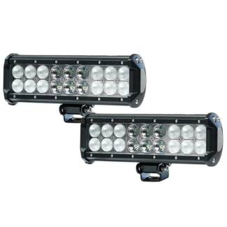 2X 9INCH 90W CREE LED LIGHT BAR SPOT FLOOD OFFROAD DRIVING WORK L