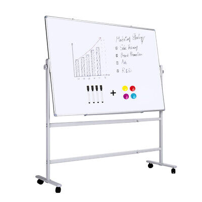 Double-sided Magnetic Whiteboard With Standcome With Magnets And Markers36x24
