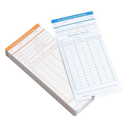 50x Monthly Timecard Recorder Time Clock Cards For Office Attendance Payroll