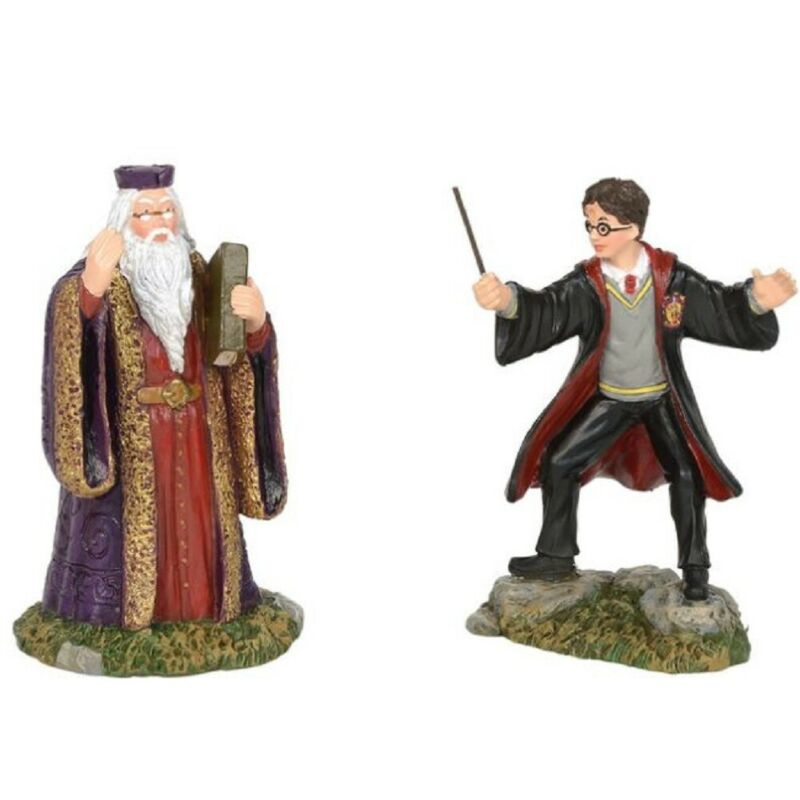 Department 56 Harry Potter Village Harry and The Headmaster Figurine 6002314