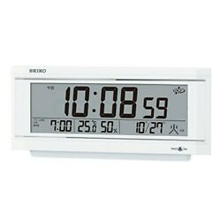SEIKO Digital Table Clock with light SPACE LINK white pearl GP501W from Japan