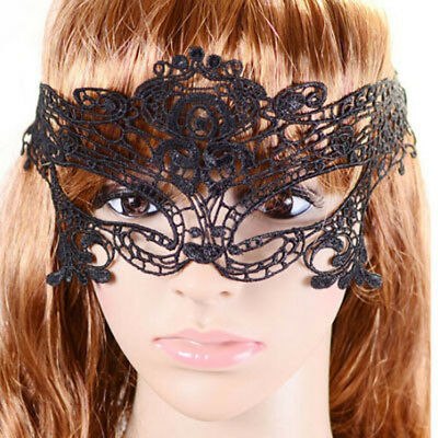 schwarz oder weiß Spitze Gesicht Augen Maske sexy Muster Halloween neues Jahr