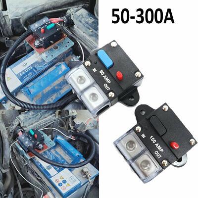 50300a Amp Car Audio Breaker In Line Circuit Manual Reset Boat 12v 48 Volt Fuse