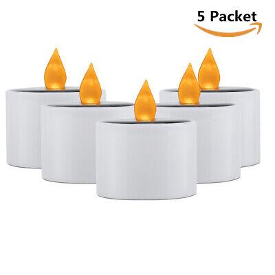 5er/Set Solar LED Kerze für Außen Outdoor-Kerzen flammenlos elktrisch candle ()