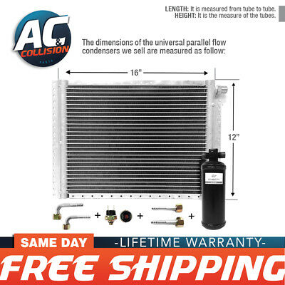 CNFP1216KT Kit AC A/C Universal Condenser Parallel Flow 12 x 16 with Drier