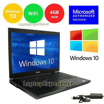 Dell Laptop Latitude Windows 10 Core 2 Duo 4Gb 160Gb Win Dvd Rw Wifi Pc 15 4  Hd