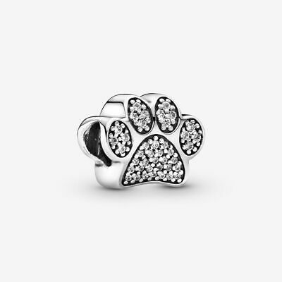 Sale!!!PANDORA Sparkling Paw Print Charm Sterling Silver with Gift Pouch