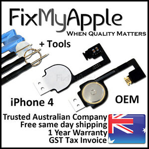 iPhone 4 4G Original Home Button Flex Cable Ribbon Switch Replacement Tools Kit