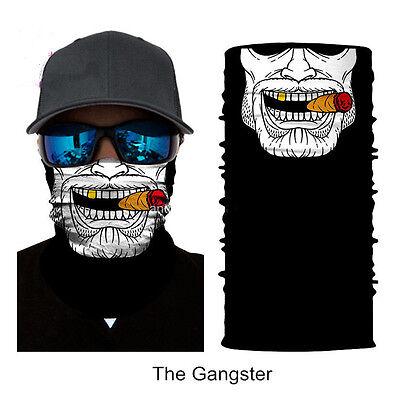 Gangster Headwear (Camping Gangster Face Shield Sun Mask Neck Gaiter Tubes Neckerchief Headwear)