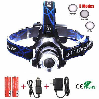 2000LM XML CREE T6 LED Headlamp Headlight Flashlight Head Torch 18650 Battery