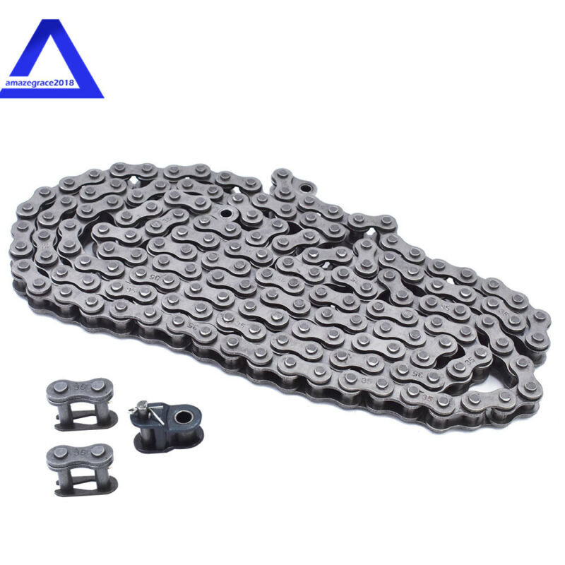 For GO KART, Mini Bike #35 Roller Chain 5 Feet with 2 Master and 1 Offset Links