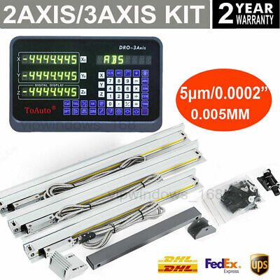 2axis3axis Milling Digital Readout Dro Display 5m Ttl Linear Scale Encoder Kit