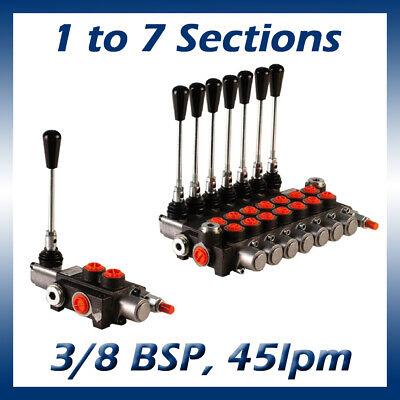 Hydraulic Monoblock Lever Control Spool Valve 38 X 12 Ports 45lpm 1-7 Bank
