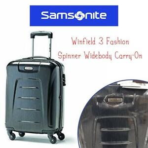 NEW Samsonite Winfield 3 Fashion Spinner Widebody Carry-On, Charcoal (Brushed), International Carry-on Condtion: New,...