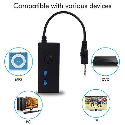 Bluetooth Receiver 3.5 mm Jack Convert AUX to Wireless Music Stereo Adapter MIC