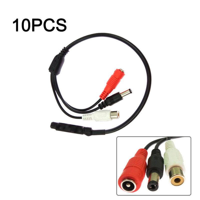 10 Pcs High Sensitive DC Audio Mini Mic Microphone for CCTV Security DVR Cam