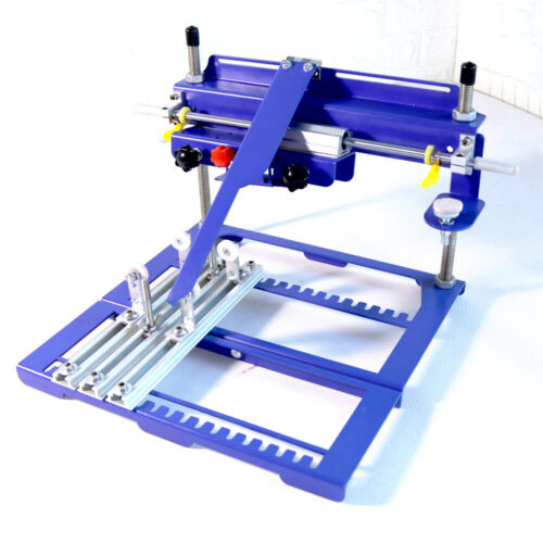 TECHTONGDA Model-A 170mm Diameter Curved Screen Printing Machine Push-pull