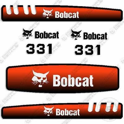 Bobcat 331 Decal Kit Mini Excavator Decals Replacement Kit - 3m Vinyl