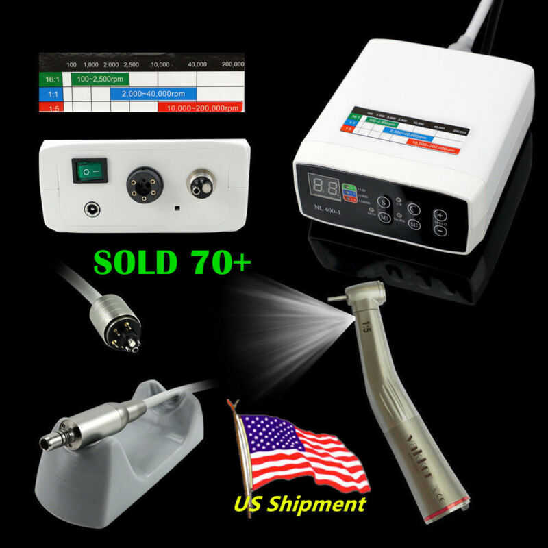 CICADA NSK E-TYPE Electric Dental Motor + 1:5 High Speed Handpiece Contra Angle