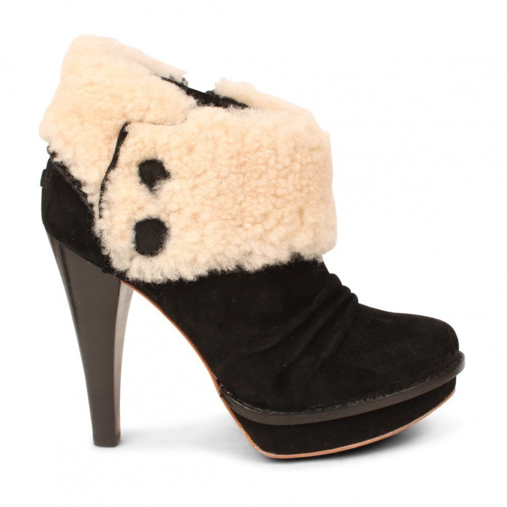 genuine ugg high heel ankle boots