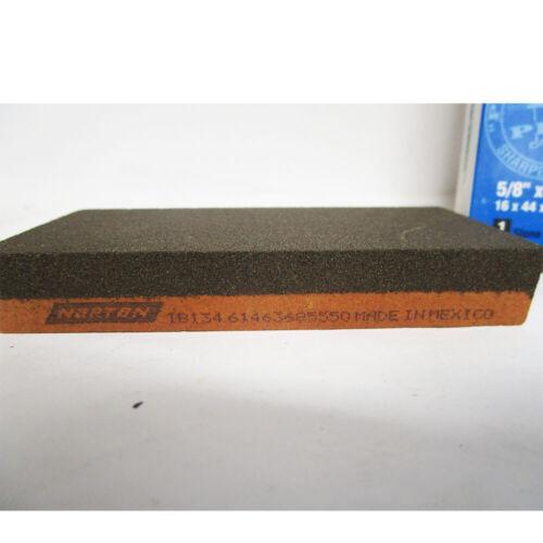 NORTON COARES/FINE INDIA ALUM OXIDE RECTAN COMBO GRIT BENCHSTONE 4X1-3/4X5/8