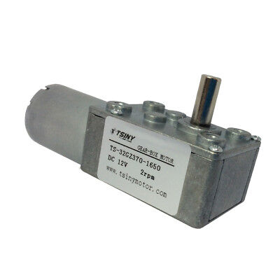 Reversible 12v Electrical Dc Worm Gear Motor Low Speed 2rpm For Drive Replacemet