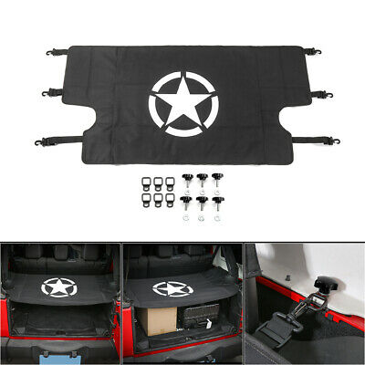 Rear Trunk Shade Cargo Cover Shield For Jeep Wrangler JK JKU 4 doors 07-17