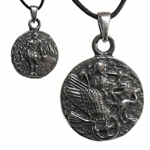 Hephaestus Olympian Pendant NEW Greek Roman Coin Pewter Amulet w/ Cord Vulcan